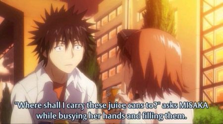 She is now helping Touma pick up cans.