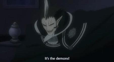 Someone yells that there are demons....everyone is surprised, except me.