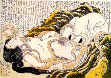 Katsushika Hokusai - Dream of the Fishermans Wife (1820)