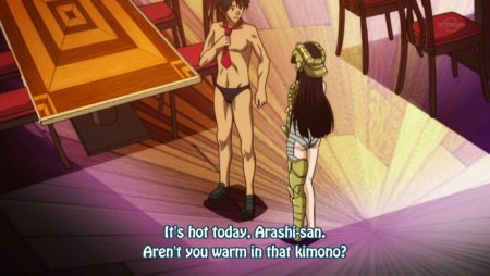 Kimono? That's an interesting kimono. By the way, speedos rule.