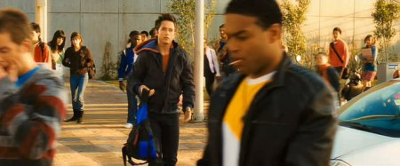 Goku is in high school......at this point, you know the movie is ruined.